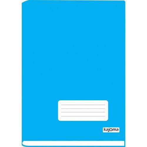 Caderno Brochura 1/4 Capa Dura 96 Folhas Kajoma Azul
