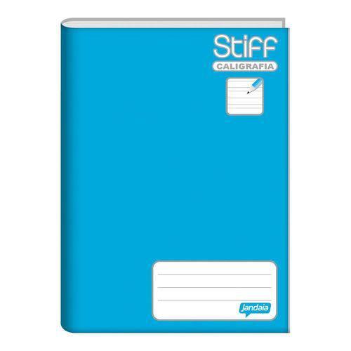 Caderno Brochura 1/4 Capa Dura Caligrafia 96 Folhas Stiff Azul