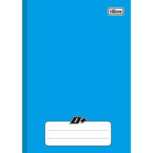 Caderno Brochura 1/4 Capa Dura D+ 48 Folhas Azul