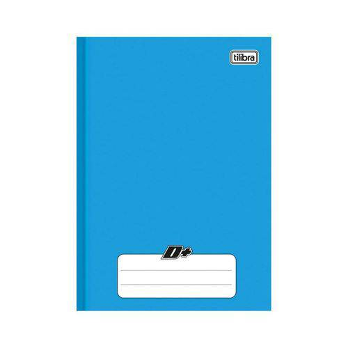 Caderno Brochura 1/4 Capa Dura D+ 48 Folhas Tilibra Azul