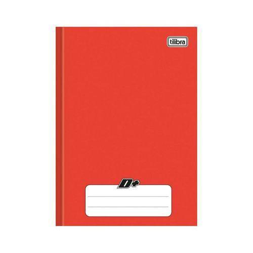 Caderno Brochura 1/4 Capa Dura D+ 48 Folhas Tilibra Vermelho