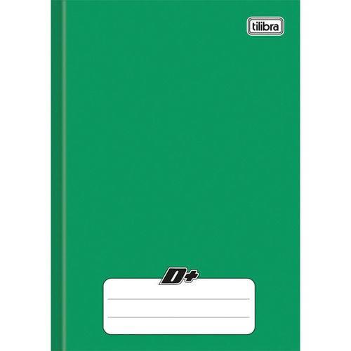Caderno Brochura 1/4 Capa Dura D+ 48 Folhas Verde Tilibra Pct.c/15