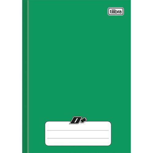 Caderno Brochura 1/4 Capa Dura D+ 96 Folhas Verde