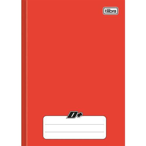 Caderno Brochurao Capa Dura D+ 96 Folhas Vermelho Tilibra Pct.c/05