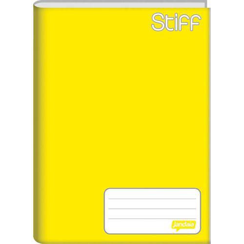 Caderno Brochura 1/4 Capa Dura Stiff 48 Folhas Amarelo Jandaia Pct.c/10