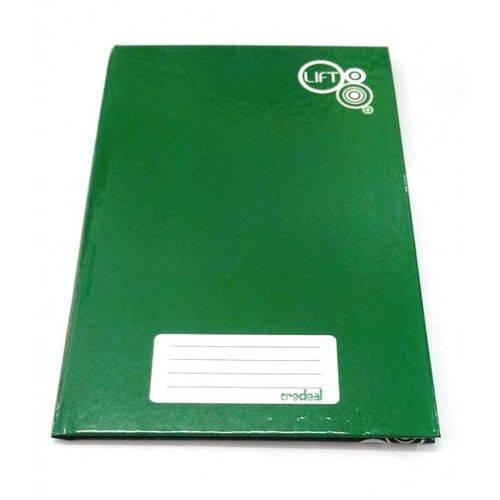 Caderno Brochura 1/4 Capa Dura Verde Pequeno 48 Fls. - Credeal