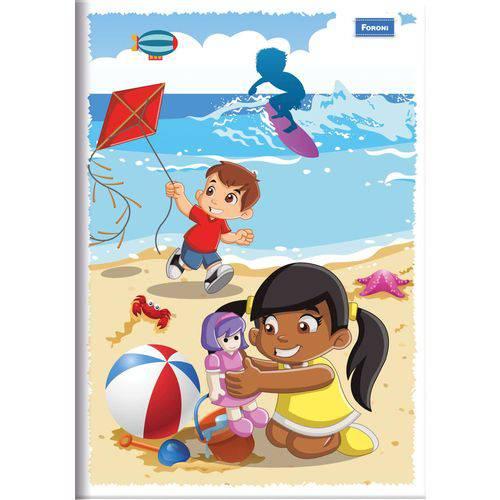 Caderno Brochura 1/4 Capa Infantil 60 Folhas Foroni Pct.c/10
