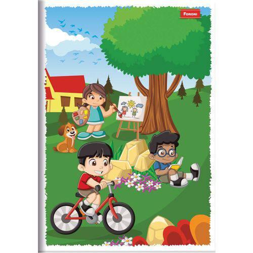 Caderno Brochura 1/4 Capa Infantil 96 Folhas Foroni Pct.c/10