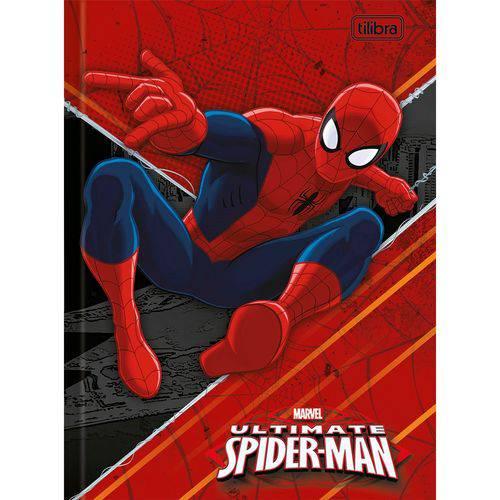 Caderno Brochura 1/4 Homem Aranha 96 Folhas - Tilibra - Vermelho
