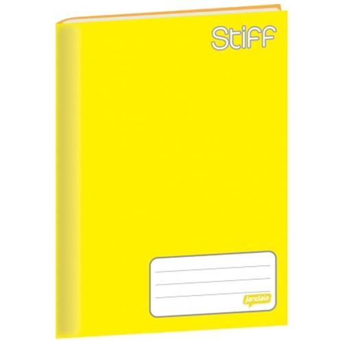 Caderno Brochura 1/4 Jandaia Stiff 48 Folhas Capa Dura Amarelo 130481