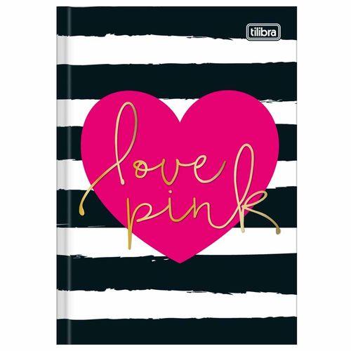 Caderno Brochura 1/4 Love Pink 96 Folhas Tilibra 1026733