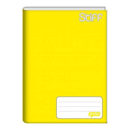 Caderno Brochura Capa Dura 1/4 48 Folhas Stiff Amarelo Jandaia