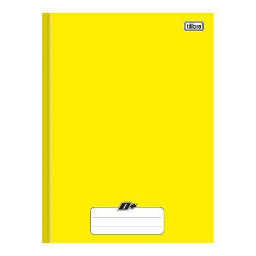Caderno Brochura Capa Dura 1/4 96 Folhas Mais+ / D+ Amarelo 10 Unidades Tilibra