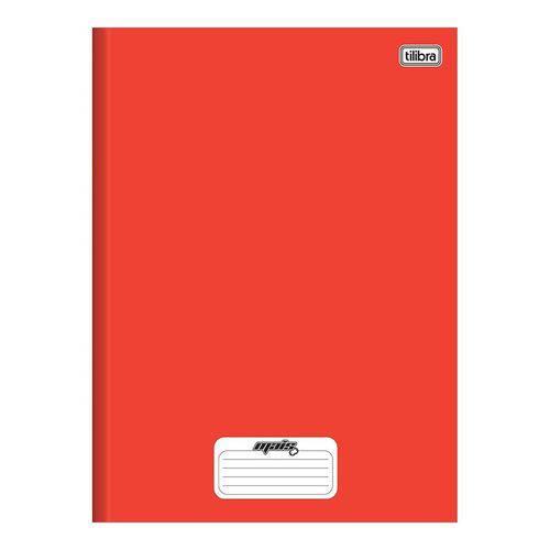 Caderno Brochura Capa Dura 1/4 Mais+ / D+ 48 Folhas Vermelho 15 Unidadestilibra