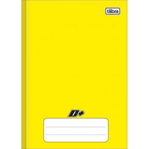 Caderno Brochura Capa Dura 1/4 D+ Amarelo 48 Folhas