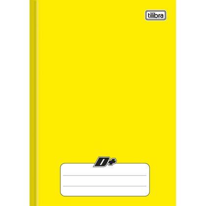 Caderno Brochura Capa Dura 1/4 D+ Amarelo 96 Folhas - Tilibra Tilibra