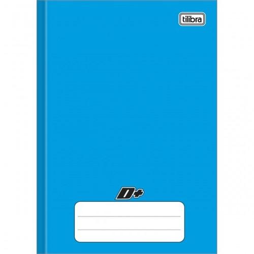 Caderno Brochura Capa Dura 1/4 D+ Azul 48 Folhas