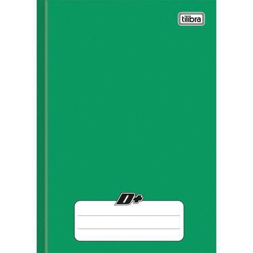 Caderno Brochura Capa Dura 1/4 D+ Verde - 96 Folhas (Pacote com 10 Unidades)