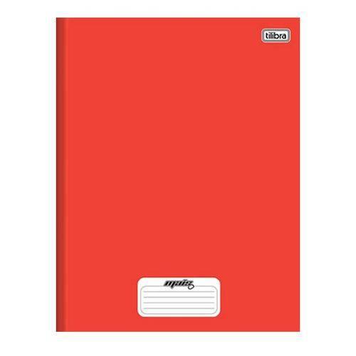 Caderno Brochura Capa Dura 1/4 D+ Vermelho 48 Folhas Tilibra