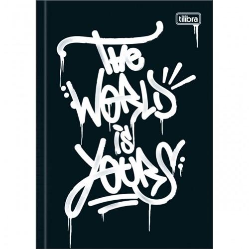 Caderno Brochura Capa Dura 1/4 Graffiti 80 Folhas (Pacote com 5 Unidades) - Sortido