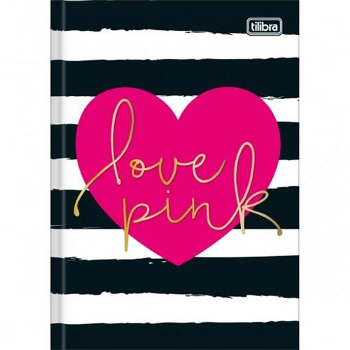 Caderno Brochura Capa Dura 1/4 Love Pink 48 Folhas - Sortido