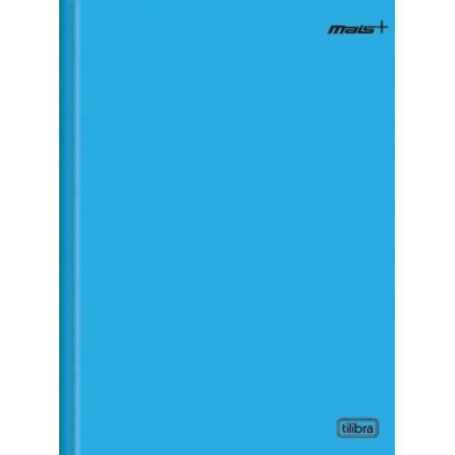 Caderno Brochura Capa Dura 1/4 Mais+ 48 Folhas Azul Tilibra