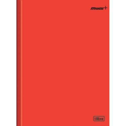 Caderno Brochura Capa Dura 1/4 Mais+ 48 Folhas Vermelho Tilibra