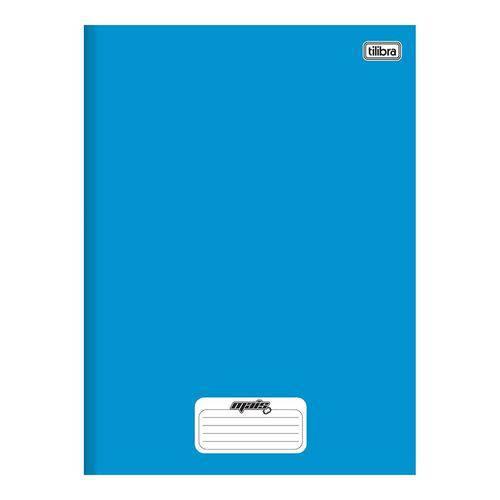 Caderno Brochura Capa Dura 1/4 Mais+ / D+ 48 Folhas Azul 5 Unidades Tilibra