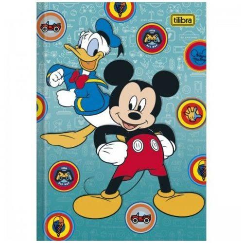Caderno Brochura Capa Dura 1/4 Top Mickey e Donald 48 Folhas