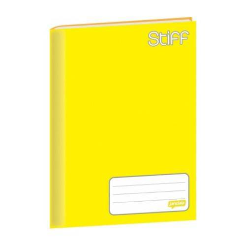 Caderno Brochura Capa Dura 48 Folhas Stiff Jandaia - Amarelo