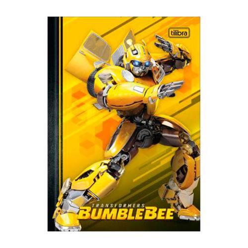 Caderno Brochura Capa Dura Universitário Bumblebee Fundo Amarelo 80 Folhas - Tilibra