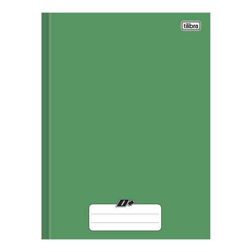 Caderno Brochura Capa Dura Universitário D+ 48 Folhas Verde 10 Unidades Tilibra
