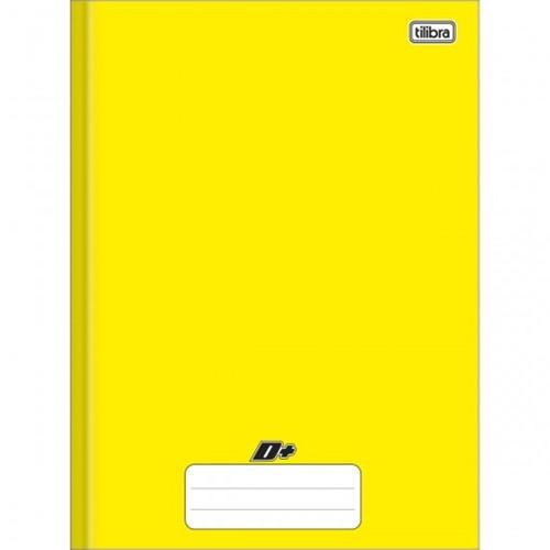 Caderno Brochura Capa Dura Universitário D+ Amarelo 96 Folhas 116807
