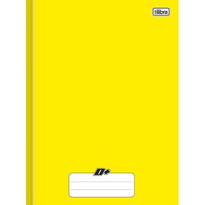 Caderno Brochura Capa Dura Universitário D+ Amarelo 96 Folhas - Tilibra Tilibra
