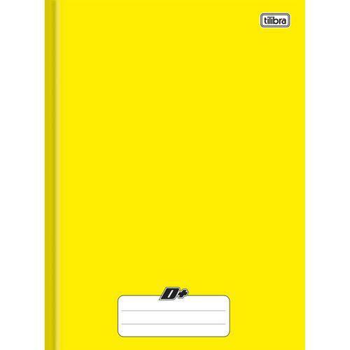 Caderno Brochura Capa Dura Universitário D+ Amarelo 96 Folhas - Tilibra