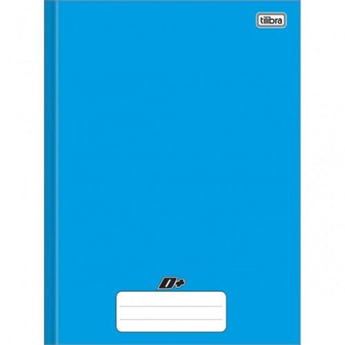 Caderno Brochura Capa Dura Universitário D+ Azul 96 Folhas 116785