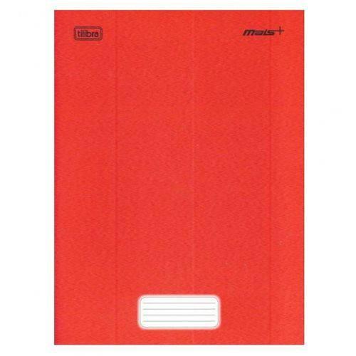 Caderno Brochura Capa Dura Universitário Mais+ 48 Fls. Vermelho - Tilibra