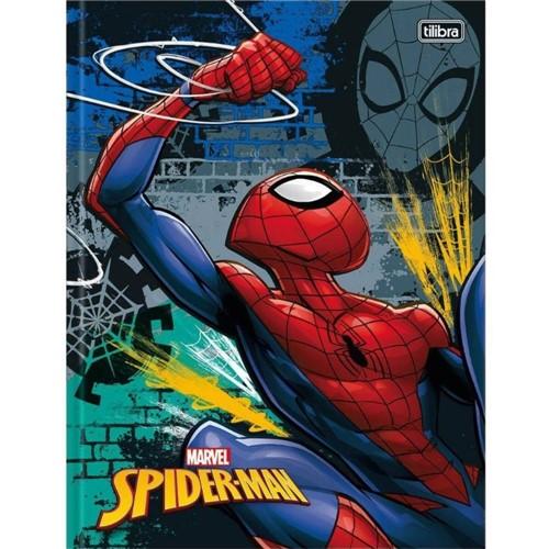 Caderno Brochura Capa Dura Universitário Spider Man 96 Folhas 141135-Tilibra