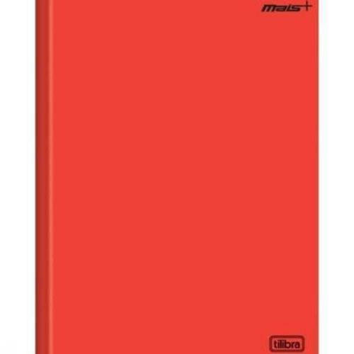 Caderno Brochura Costurado 1/4 96 Folhas Vermelho