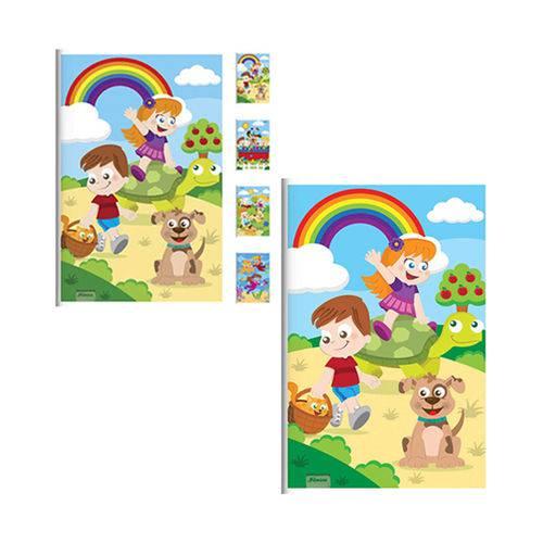 Caderno Brochura Criancas 48 Folhas 1 4