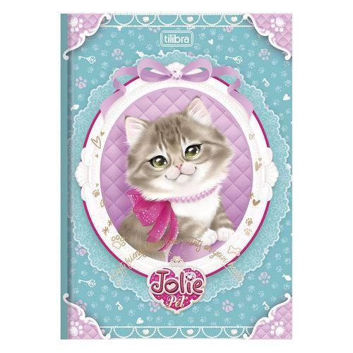 Caderno Brochura Jolie Pet - Gatinha com Laço - 96 Folhas - Tilibra