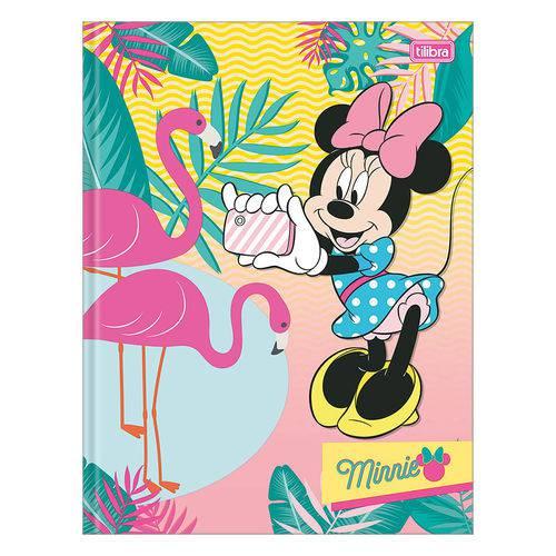 Caderno Brochura Minnie - Flamingos - 1 Matéria - Tilibra