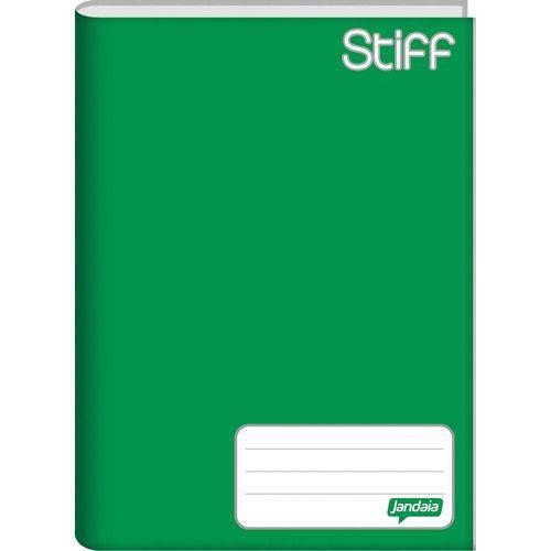 Caderno Brochura Pequeno Capa Dura Stiff 48 Folhas Verde Pacote com 10 Jandaia