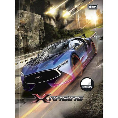 Caderno Brochura Sem Pauta X Racing com 96 Folhas Tilibra