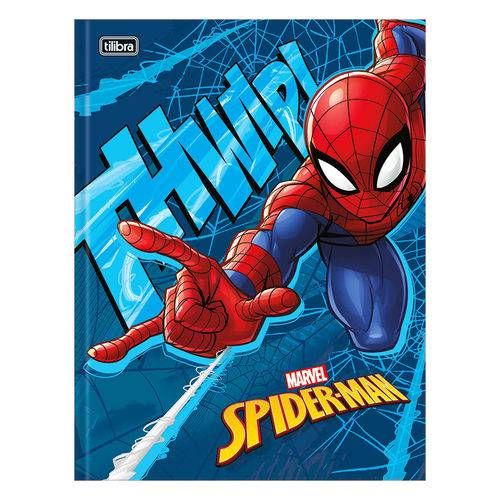 Caderno Brochura Spider Man - Azul - 48 Folhas - Tilibra