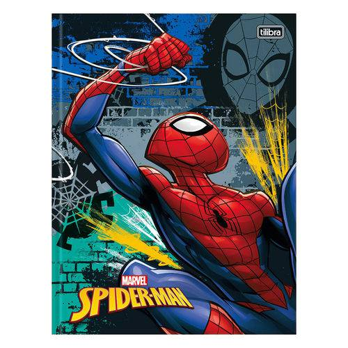 Caderno Brochura Spider Man - Preto/azul - 48 Folhas - Tilibra