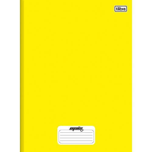 Caderno Brochura Tilibra Mais Amarelo Capa Dura 1/4 - 96 Folhas