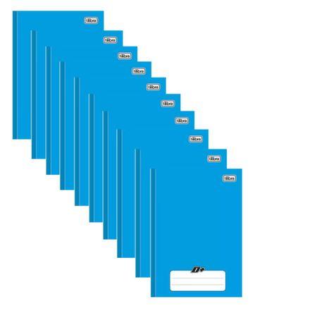 Caderno Brochura Universitário Capa Dura 48 Folhas Pct 10 Un. D+ Tilibra - Azul