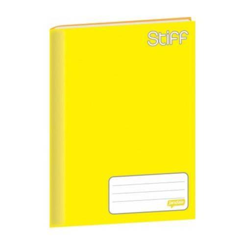 Caderno Brochura Universitário Capa Dura 96 Folhas Stiff Jandaia - Amarelo