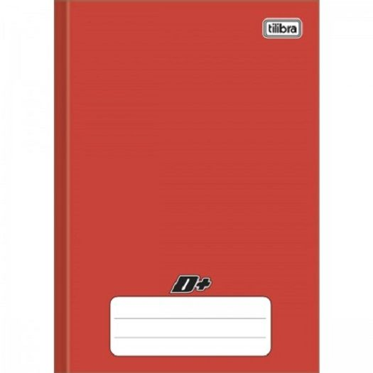 Caderno Linguagem Brochura 48 Folhas Capa Dura 116696 Vermelho Mais Tilibra